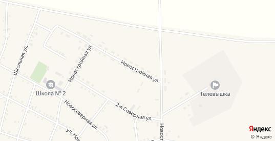 Новостройная улица в Макушино с номерами домов на карте. Спутник и схема онлайн
