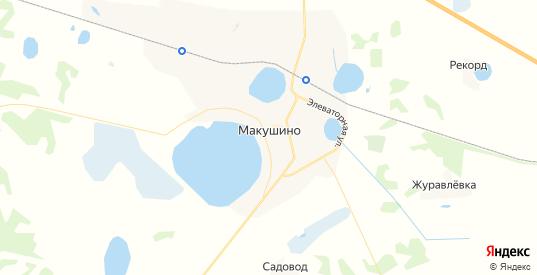 Карта Макушино с улицами и домами подробная. Показать со спутника номера домов онлайн