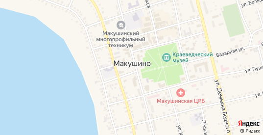 Базарная площадь в Макушино с номерами домов на карте. Спутник и схема онлайн