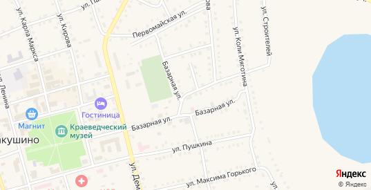 Базарная улица в Макушино с номерами домов на карте. Спутник и схема онлайн