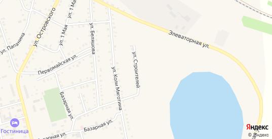 Улица Строителей в Макушино с номерами домов на карте. Спутник и схема онлайн