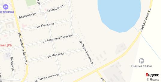 Улица К.Мяготина в Макушино с номерами домов на карте. Спутник и схема онлайн