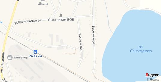 Рабочий переулок в Макушино с номерами домов на карте. Спутник и схема онлайн
