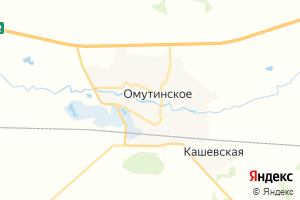 Карта с. Омутинское Тюменская область