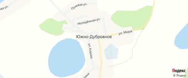 Карта Южно-Дубровного села в Тюменской области с улицами и номерами домов