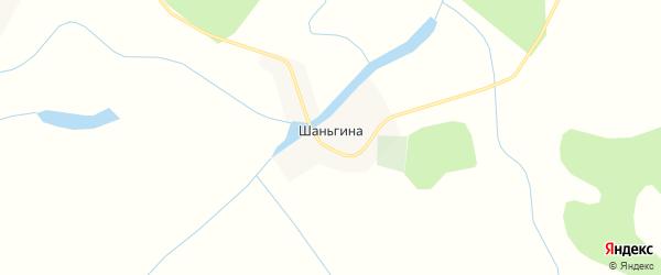 Карта деревни Шаньгиной в Тюменской области с улицами и номерами домов