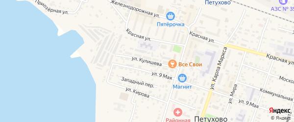Улица Кулишева на карте Петухово с номерами домов