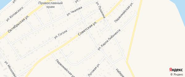 Набережная улица на карте Петухово с номерами домов