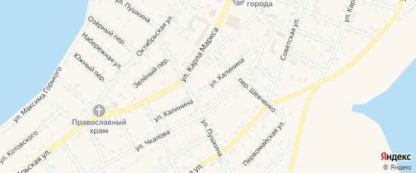 Улица Калинина на карте Петухово с номерами домов