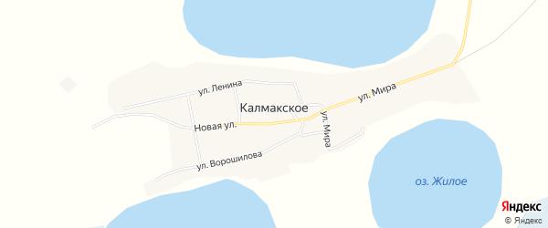 Карта Калмакского села в Тюменской области с улицами и номерами домов