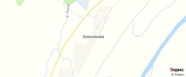 Карта деревни Зольникова в Тюменской области с улицами и номерами домов