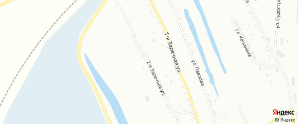 Заречная 2-я улица на карте Тобольска с номерами домов