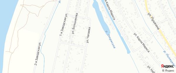 Улица Чапаева на карте Тобольска с номерами домов