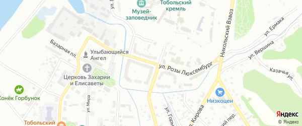Улица Розы Люксембург на карте Тобольска с номерами домов