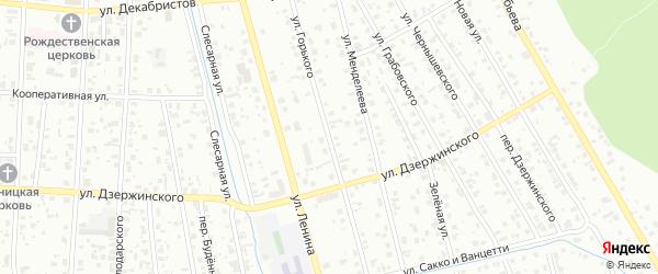 Улица Горького на карте Тобольска с номерами домов