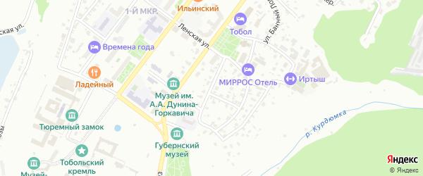 Улица Челюскинцев на карте Тобольска с номерами домов