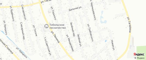 Зеленый переулок на карте Тобольска с номерами домов