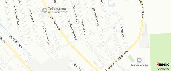 Менделеевский 1-й переулок на карте Тобольска с номерами домов