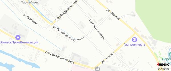 Вокзальная 2-я улица на карте Тобольска с номерами домов