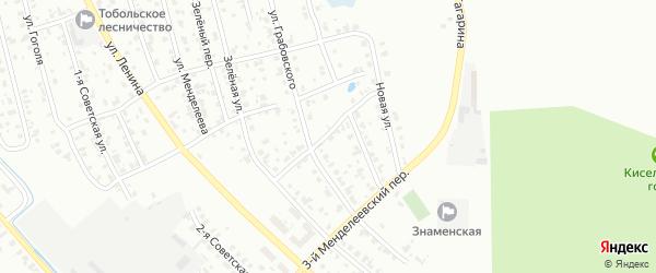 Менделеевский 2-й переулок на карте Тобольска с номерами домов