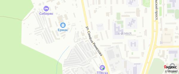 Улица Семена Ремезова на карте Тобольска с номерами домов