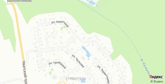 Улица Никитина в Тобольске с номерами домов на карте. Спутник и схема онлайн