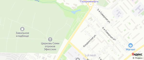 Сквер Декабристов на карте Тобольска с номерами домов