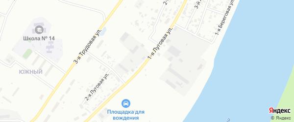 Луговая 1-я улица на карте Тобольска с номерами домов