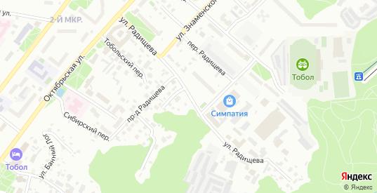Улица Радищева в Тобольске с номерами домов на карте. Спутник и схема онлайн