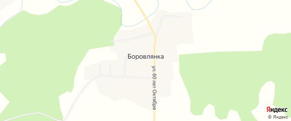 Карта деревни Боровлянки в Тюменской области с улицами и номерами домов