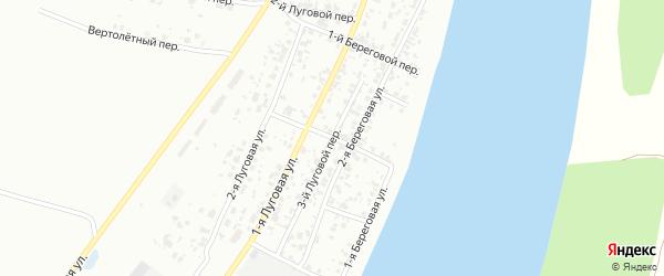 Береговой 3-й переулок на карте Тобольска с номерами домов