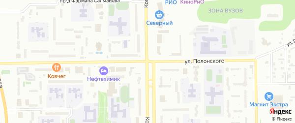 Улица Полонского на карте Тобольска с номерами домов