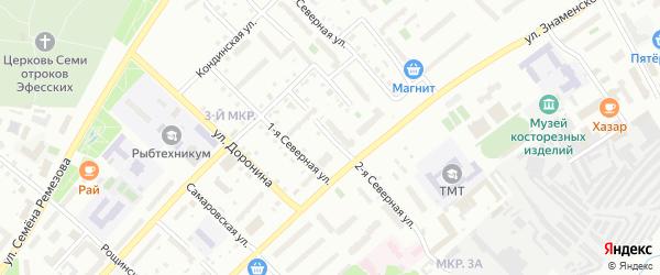 Северная 2-я улица на карте Тобольска с номерами домов