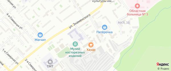 Академическая улица на карте Тобольска с номерами домов