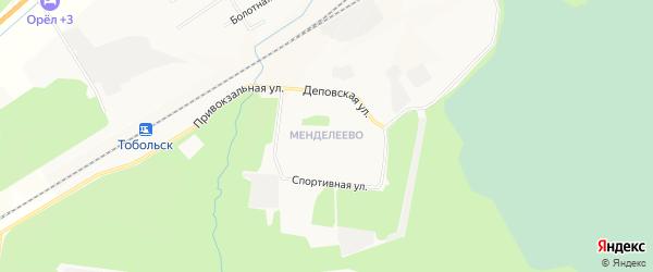Микрорайон Менделеево на карте Тобольска с номерами домов