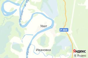 Карта с. Уват Тюменская область