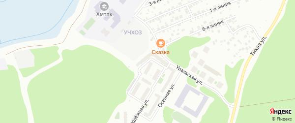 Молодежная улица на карте Ханты-Мансийска с номерами домов