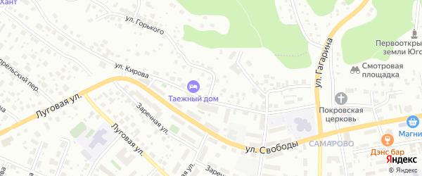 Улица Некрасова на карте Ханты-Мансийска с номерами домов