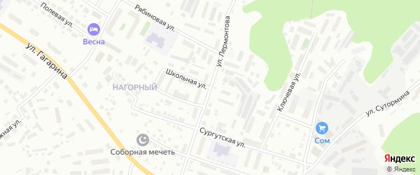 Школьная улица на карте Ханты-Мансийска с номерами домов