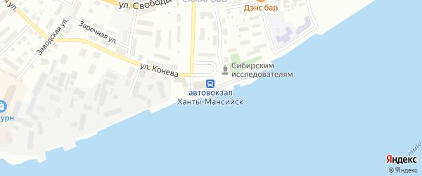 Улица Бориса Щербины на карте Ханты-Мансийска с номерами домов