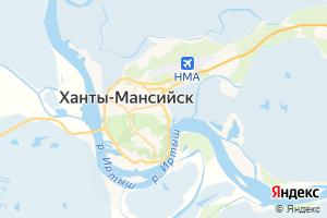 Карта г. Ханты-Мансийск Ханты-Мансийский автономный округ-Югра