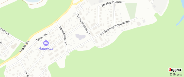Улица Землеустроителей на карте Ханты-Мансийска с номерами домов
