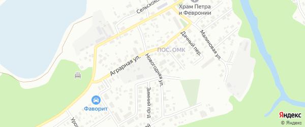 Новогодняя улица на карте Ханты-Мансийска с номерами домов
