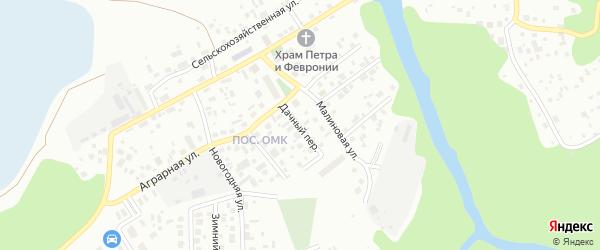 Дачный переулок на карте Ханты-Мансийска с номерами домов