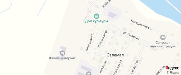 Школьная улица на карте села Салемала Ямало-ненецкого автономного округа с номерами домов