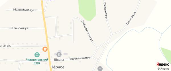 Библиотечная улица на карте Черного села Тюменской области с номерами домов