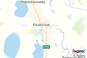 Карта с. Казанское Тюменская область