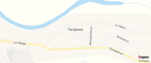 Солнечная улица на карте села Гагарино Тюменской области с номерами домов