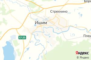 Карта г. Ишим Тюменская область