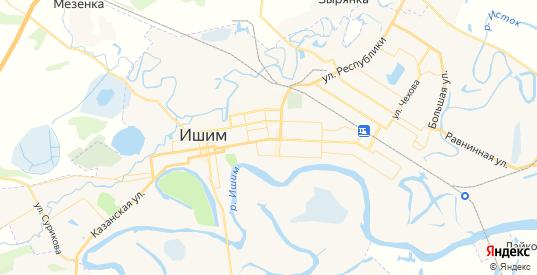Карта Ишима с улицами и домами подробная. Показать со спутника номера домов онлайн